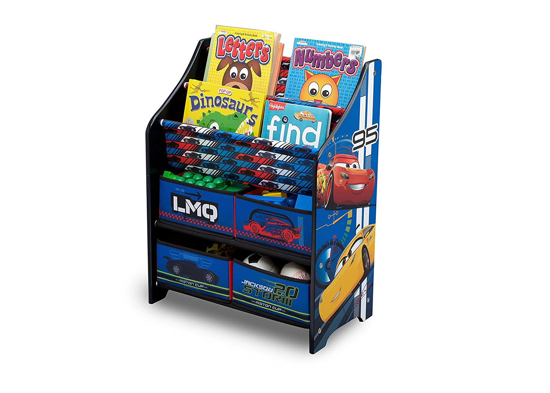 Delta Children Cars Organizador de libros y juguetes unisex