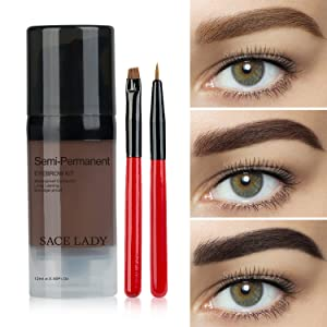 Red&Black Waterproof Eyebrow Tint Gel Kit, Long Lasting Brow Color Gel Mascara for Eyebrow Makeup,Flake-Proof,Smudge-Proof, 12ml Light Brown