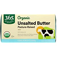 365 by Whole Foods Market, Organic Pasture-Raised Butter, Unsalted, 16 Ounce