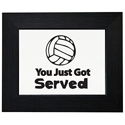 Amazon.com: You Just Got Served Volleyball Player Graphic Framed ...
