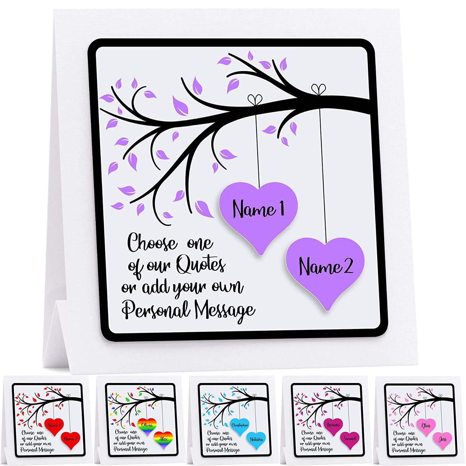 personalised engagement card d hearts anniversary wedding husband