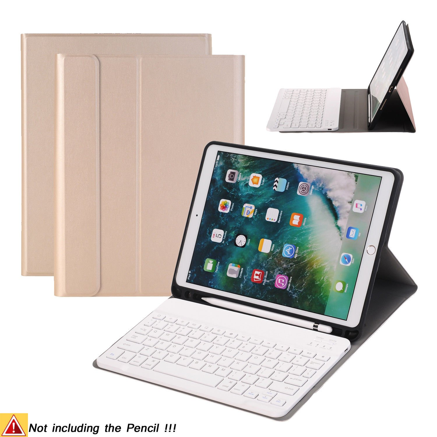 Amazon com: iPad Pro 10 5 Keyboard Case,Naswei Ultra-Slim Stand