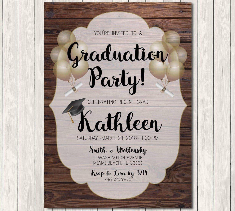 Amazon.com: Graduation Invitation   Black & Gold Graduation Invitation   Graduation  Announcement   Printable Downloadable Invitation: Handmade