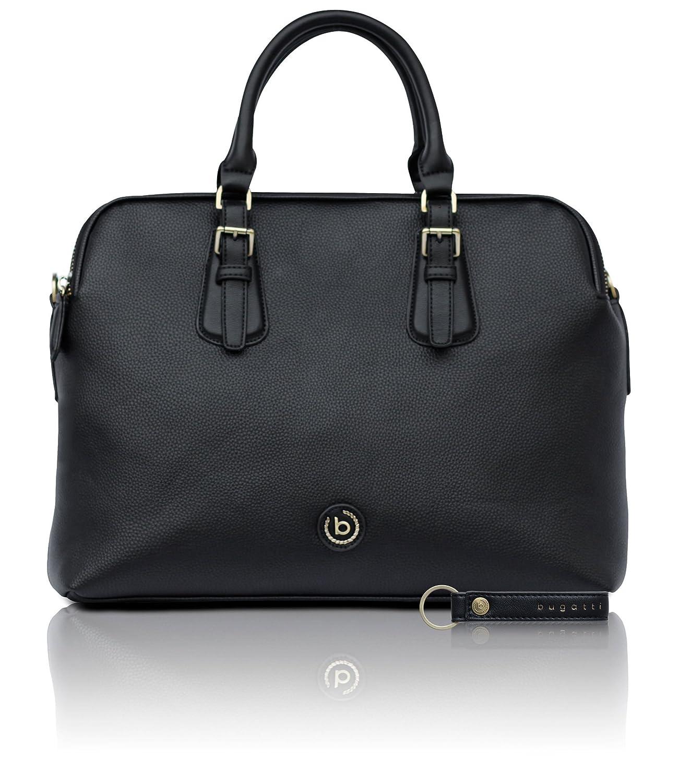 bugatti Passione Noir Similicuir Sac Business pour Femmes - élégante Mallette Noire 492531