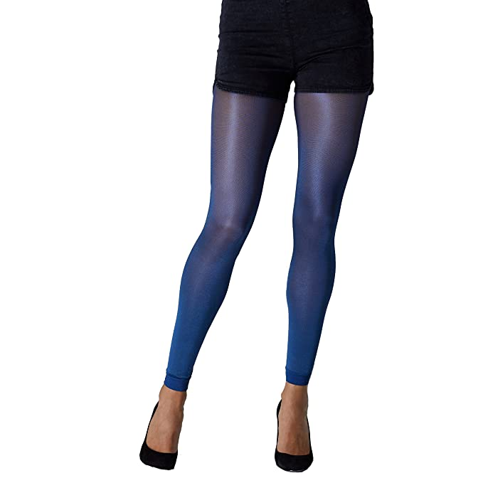c2b6e723009e8 Gipsy Metallic Footless Tights-Cobalt-One Size at Amazon Women's Clothing  store: