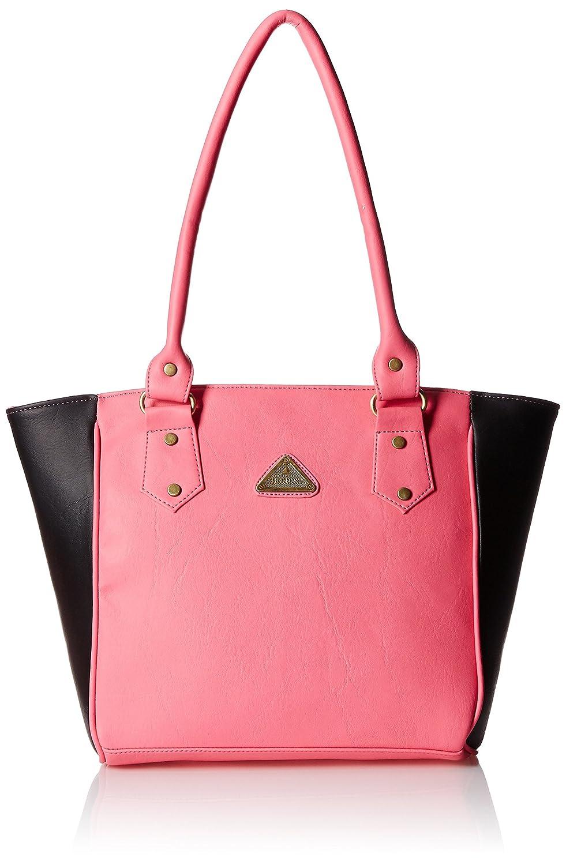 Fantosy Women's Handbag (Pink and Black) (FNB-275)