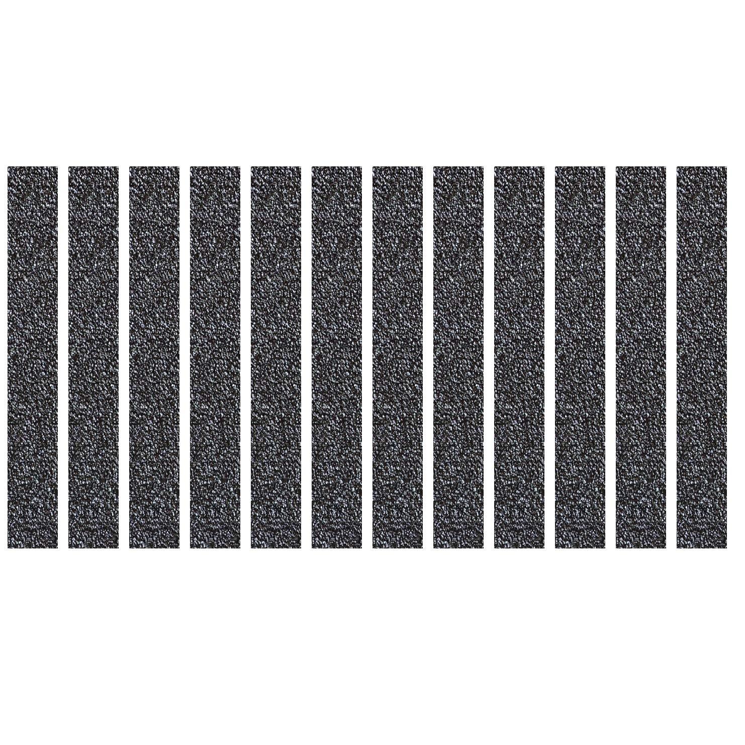 S&X Non Slip Tape,Indoor & Outdoor,Aluminum Based Safety Treads,Slip Resistant Strips for Uneven or Irregular Surfaces,2''X15'',12 Pcs/Pack,Black