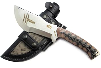 CDS-Survival SAURIUS - Cuchillo supervivencia caza monte bushcraft camping outdoor campo - Funda de
