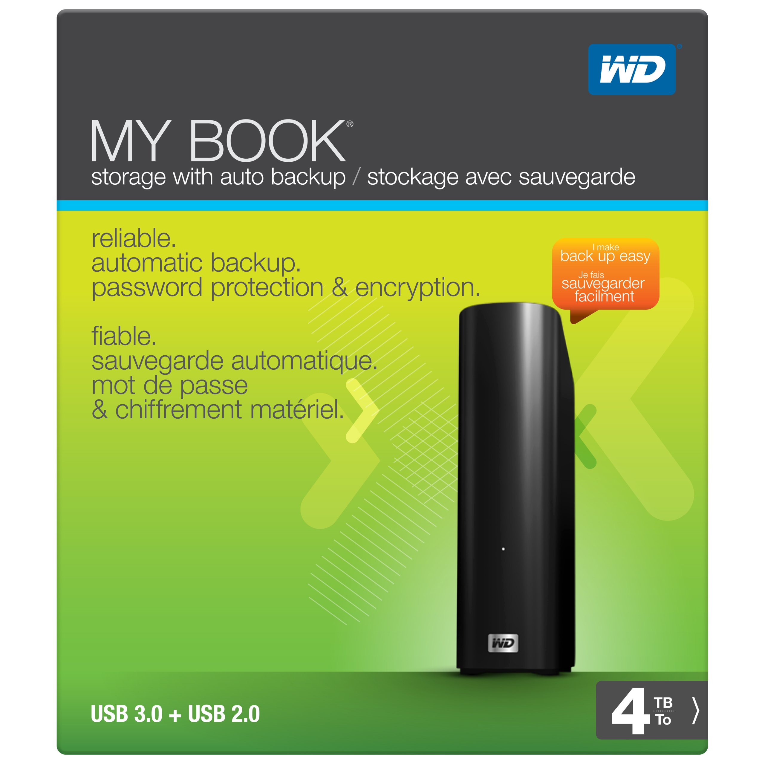 WD My Book 4TB External Hard Drive Storage USB 3.0 File Backup and Storage by Western Digital (Image #4)
