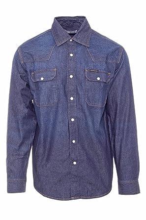 bd3f25a6869 Calvin Klein Jeans Men Long Sleeved Shirt Archive Western J30J306647   Amazon.co.uk  Clothing
