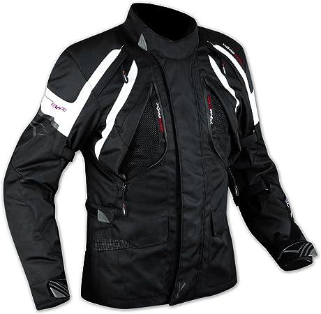 A-Pro Enduro Giacca Moto Turismo Touring Cordura Impermeabile 4 stagioni Bianco 3XL