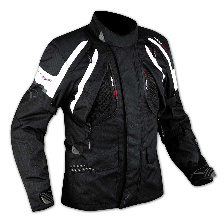 A-Pro Enduro Giacca Moto Turismo Touring Cordura Impermeabile 4 stagioni Bianco XL