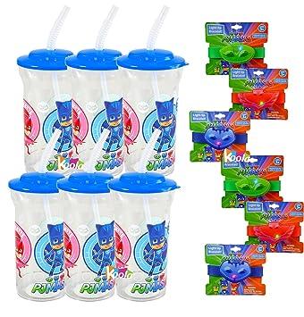 12pc PJ Masks Gekko Catboy Owlette Party Favor Light up racelet Blinks w/ Bottle