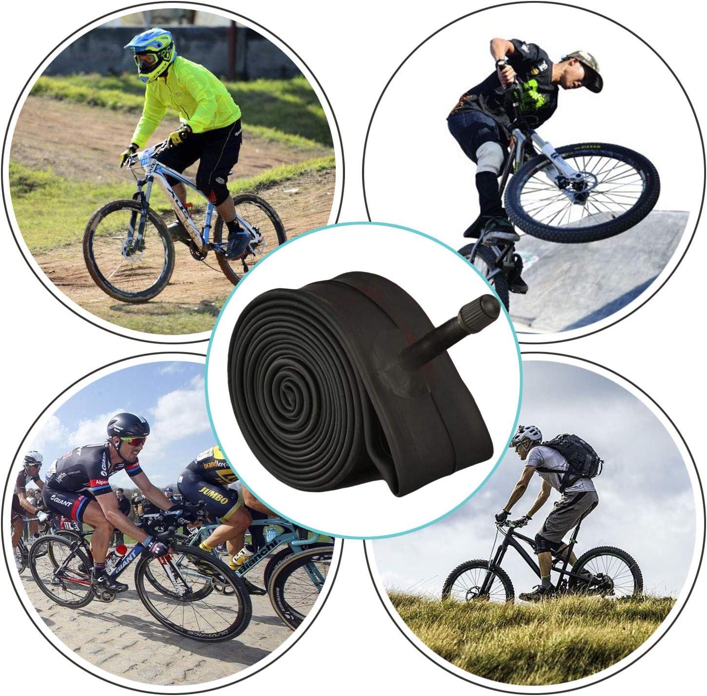 Inner Tubes 26x1.90//1.95//2.10//2.125 Schrader Valve For MTB Mountain Bike 2 Packs