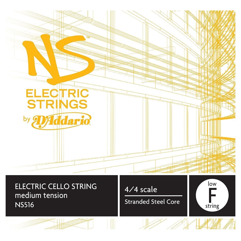 D'Addario NS Electric Cello Single Low F String, 4/4 Scale, Medium Tension D'Addario NS516