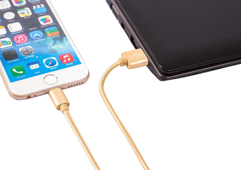 iPad En nylon r/ésistant USB Data Sync c/âble de charge rapide pour iPhone iPod