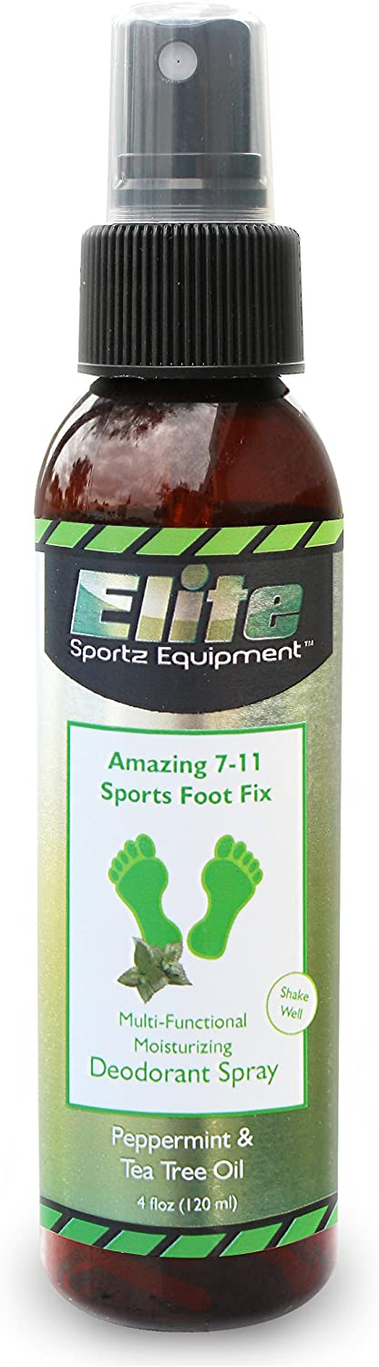 Elite Sportz Shoe Deodorizer and Foot Spray - No More Embarrassing Smelly Shoes or Stinky Feet with our Very Popular Peppermint Foot Spray and Shoe Freshener - 4 OZ: Health & Personal Care
