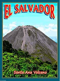 A SLICE IN TIME El Salvador Santa Ana Volcano Central Latin America Travel Advertisement Collectible Wall
