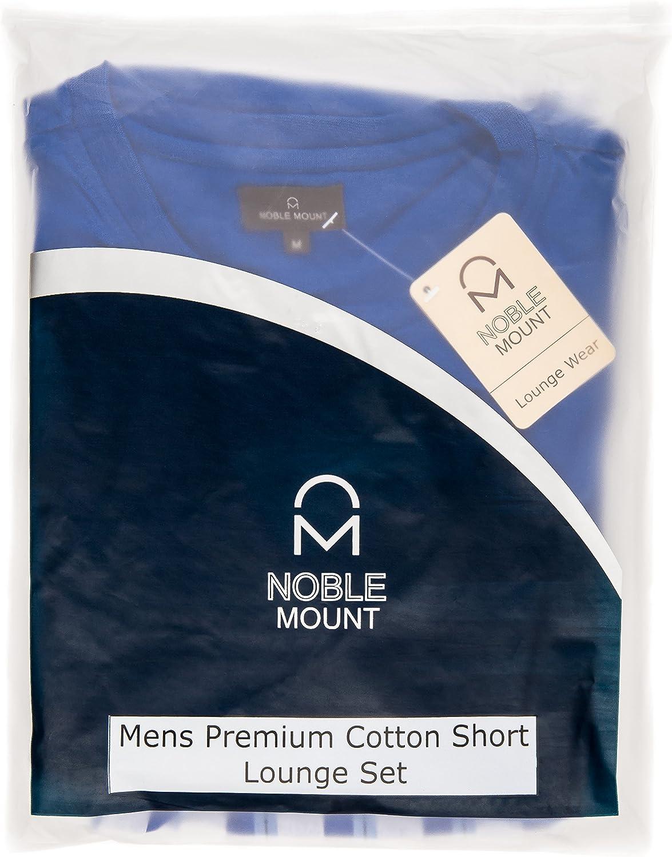 Noble Mount Mens Premium Cotton Short Lounge Set