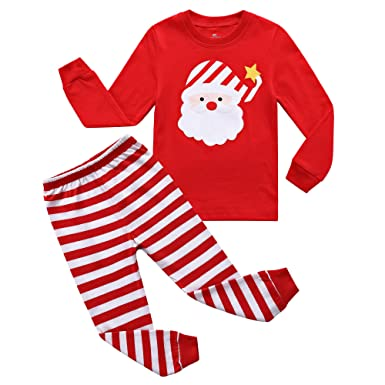 RKOIAN Little Boys Girls  Pajamas Sets Toddler Santa Christmas Pjs 100%  Cotton Kids Sleepwears f90a3dfb3