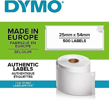 2500 BESCHRIFTUNGS ETIKETTEN WEIß 25x54mm für DYMO Labelwriter SE300