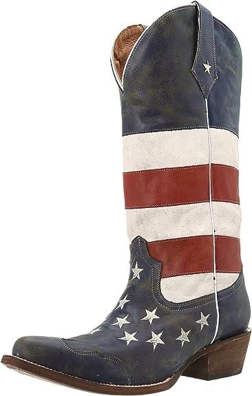 Roper Womens Vintage Americana Flag Work Boot