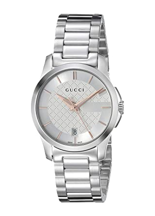 c0ce3f0c084 Gucci G-Timeless Stainless Steel Bracelet Unisex Watch(Model YA126523u)