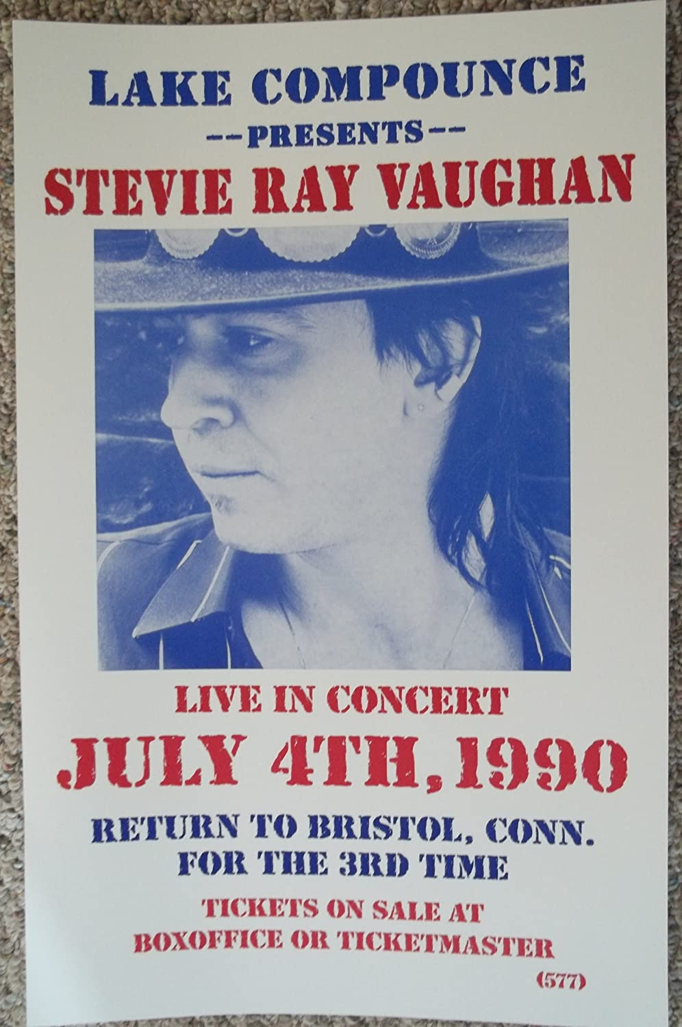 Amazon Com Stevie Ray Vaughan Live In Bristol Ct July 4th 1990 Concert Poster Prints Posters Prints