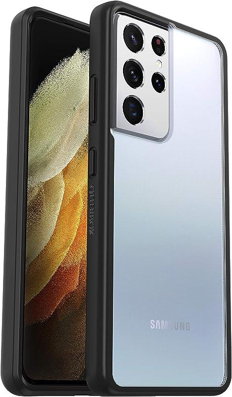 Otterbox Sleek Case Transparente Sturzsichere Schutzhülle Für Samsung Galaxy S21 Ultra Schwarz Transparent Ohne Einzelhandelsverpackung Elektronik