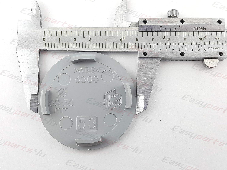 greitapigu.lt 4X Au/ßen 63 mm Innen 56 mm Nabenkappen A25-53 Felgendeckel Radnabendeckel Grau NoLogo