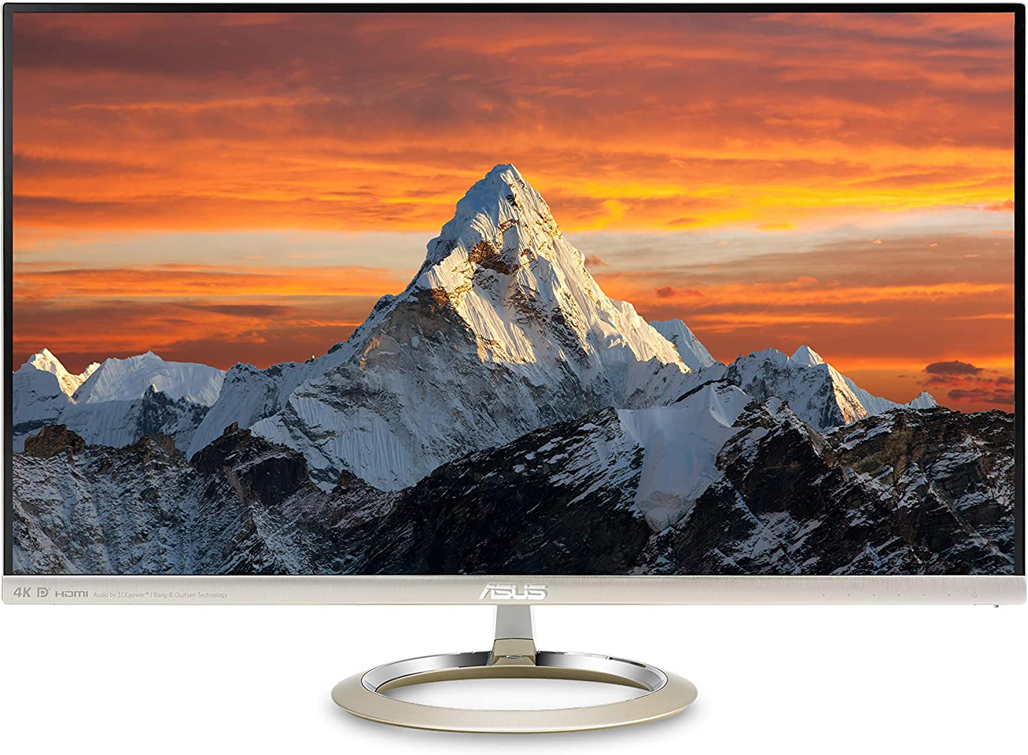 "Asus Designo MX27UCS 27"" Monitor 4K (3840 X 2160) IPS Adaptive Sync Eye Care DisplayPort HDMI USB Type-C Frameless,Icicle Gold + Black"