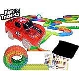 ファントラックス【カー レッド 赤】FunTracks レーシングカー 光る車と光るレール カーレース レースカー ファントラック 正規品