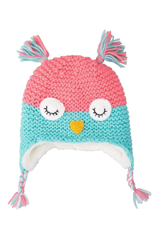 Fleece Lined Beanie Mountain Warehouse Owl Knitted Kids Winter Hat