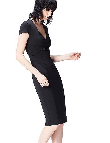 FIND 13645 Vestido Fiesta Mujer, Negro (Black), 36 (Talla del Fabricante