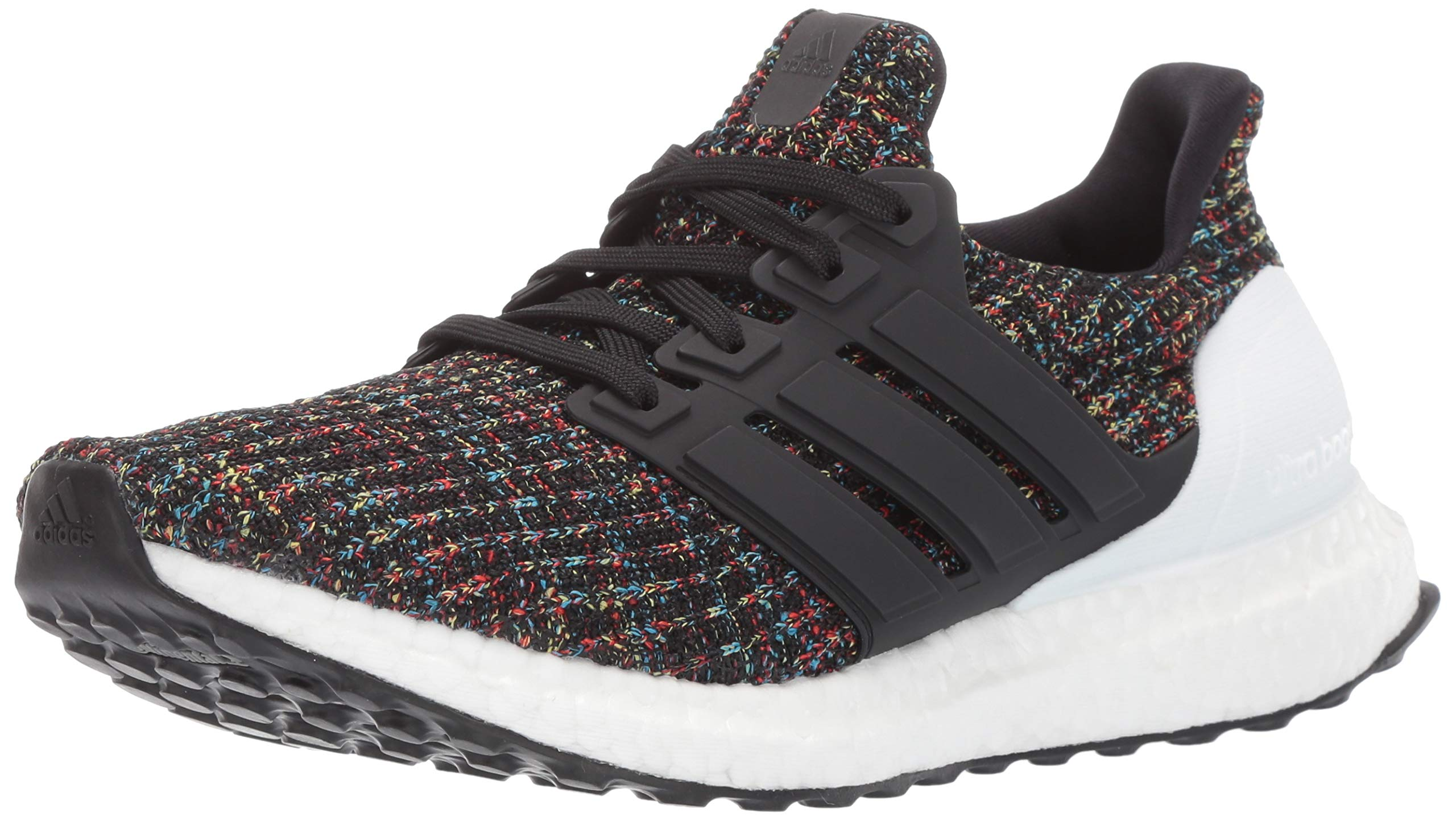 adidas Unisex Ultraboost, Black/White/Active red, 4 M US Big Kid