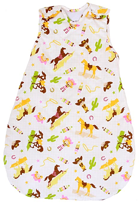 Baby Sleeping Bag with Horse Pattern, 2.5 Tog's Winter Model (Medium (10-24 mos))