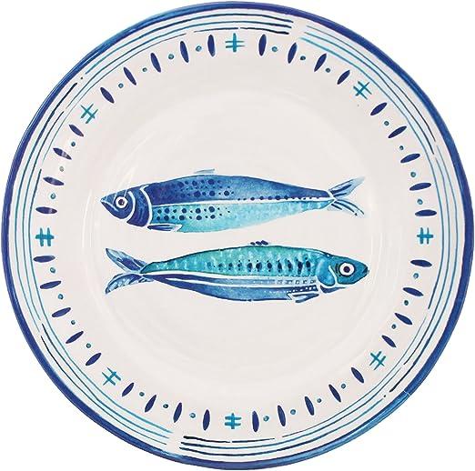 Le Cadeaux Santorini - Juego de platos para ensalada (melamina, 4 ...