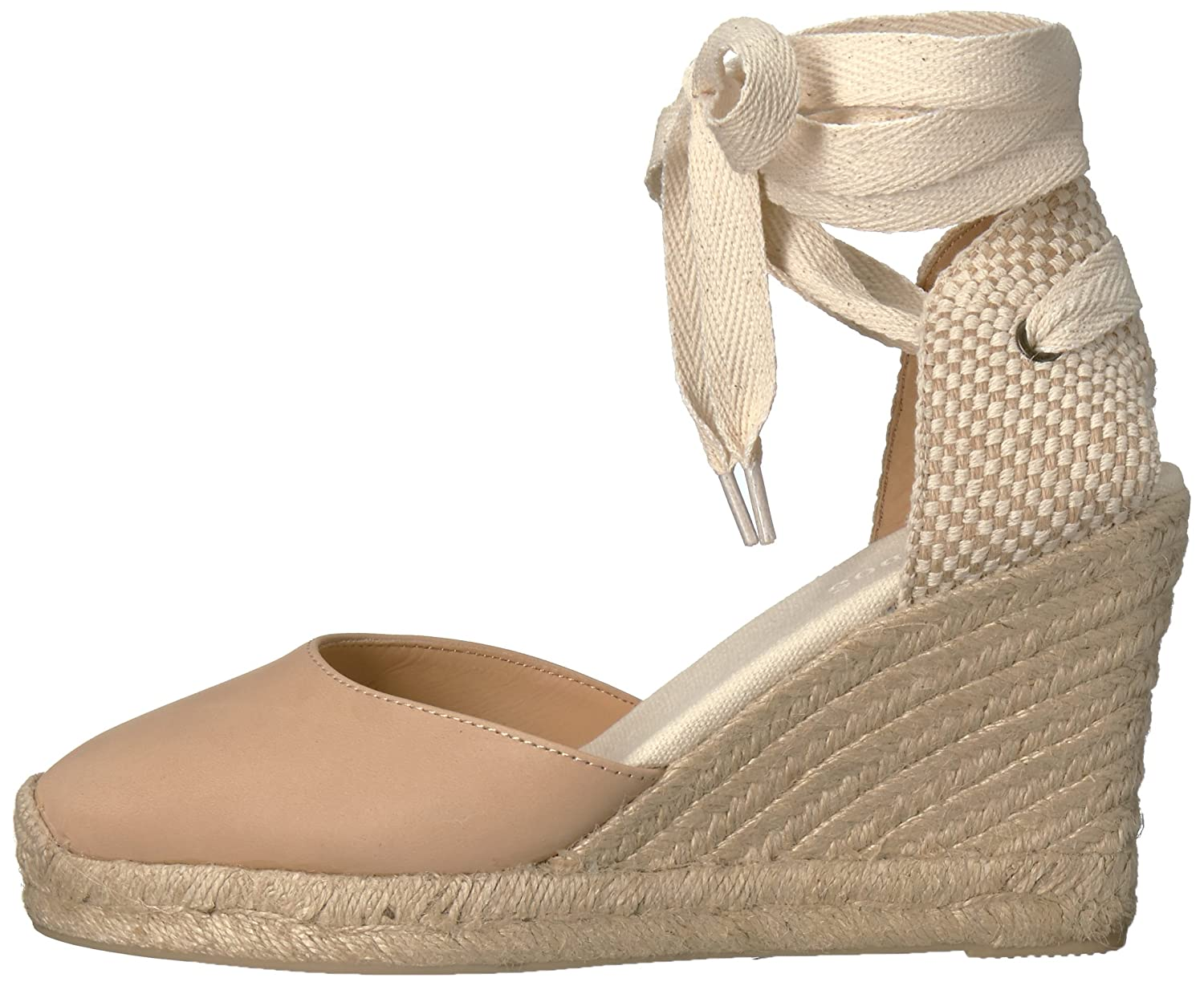 Soludos Women's Tall (90mm) Wedge Sandal B06WRRY4F2 6 B(M) US|Nude