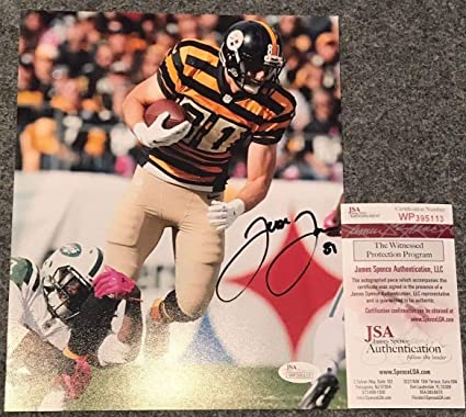 Image Unavailable. Image not available for. Color  Jesse James Autographed  Signed Pittsburgh Steelers 8x10 Photo - JSA Authentic 555b6e312