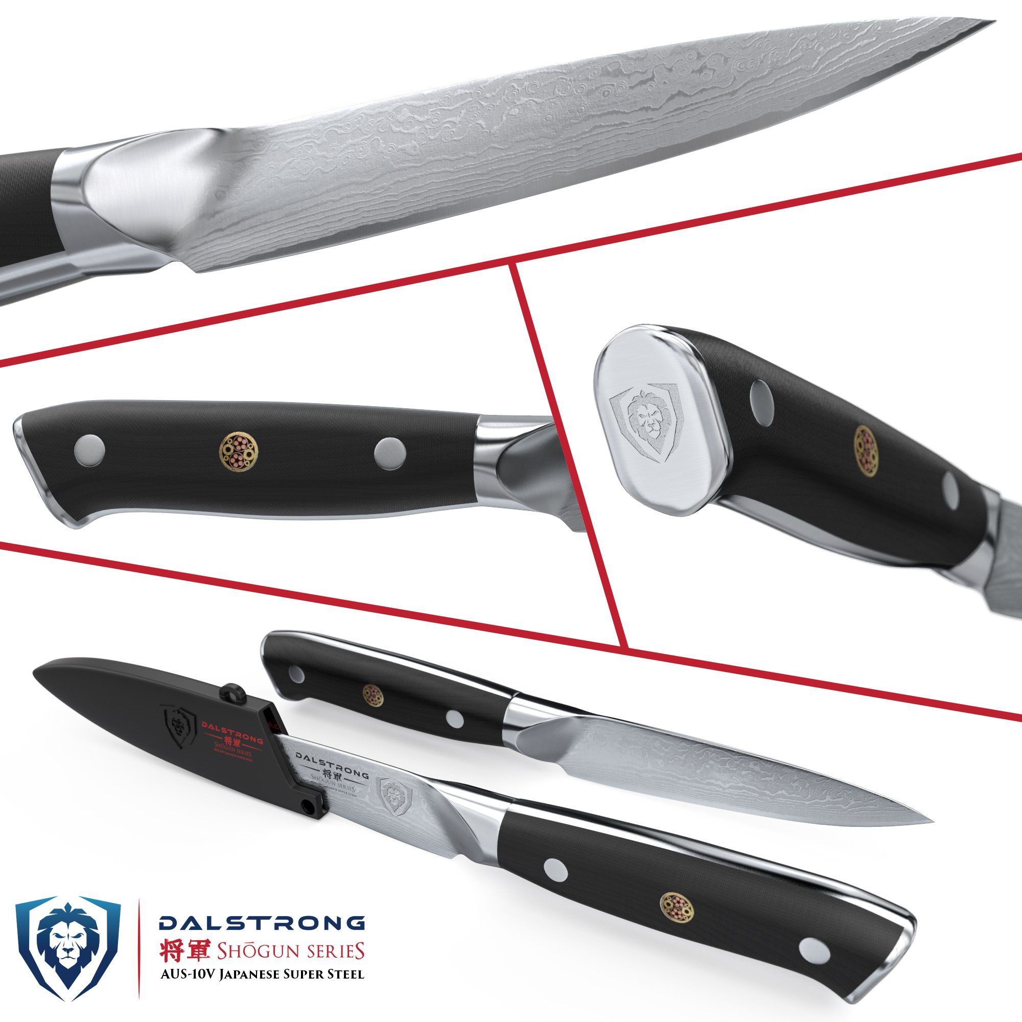 DALSTRONG Paring Knife - Shogun Series - AUS-10V- Vacuum Treated - 3.5'' Paring Knife by Dalstrong (Image #1)