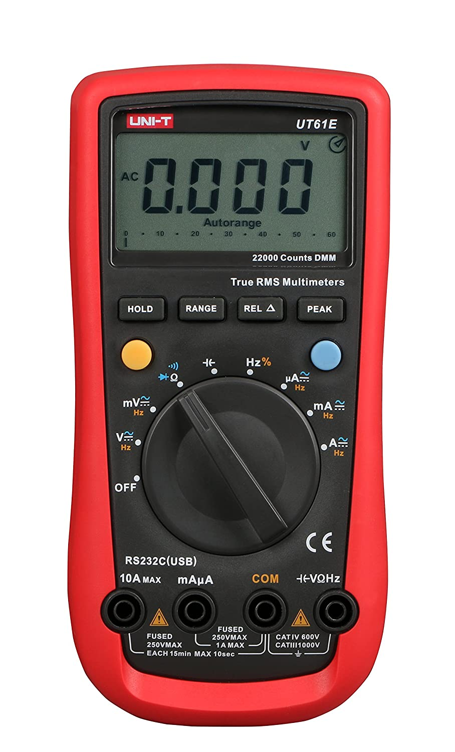 UNI-T UT61A Auto range Digital Multimeter EF detecor with Diode test and buzzer continuity Transistor testing with Data Hold