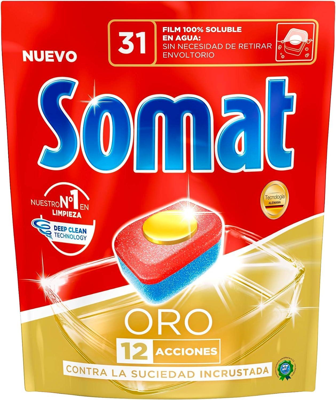 Somat Oro Cápsulas Detergente para Lavavajillas 31 Dosis: Amazon ...