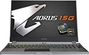 [2020] AORUS 15G (SB) Performance Gaming Laptop, 15.6-inch FHD 144Hz IPS, GeForce GTX 1660 Ti, 10th Gen Intel i7-10750H, 16GB DDR4, 512GB NVMe SSD