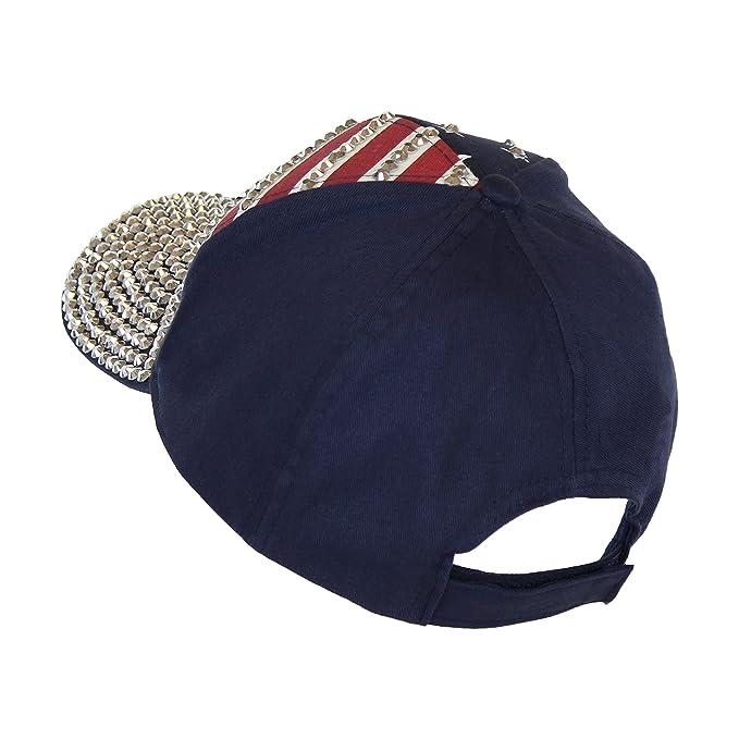 a4ba31a9b USA Bling Baseball Cap, Sparkle Rhinestone American Flag Hat, Adjustable  Size