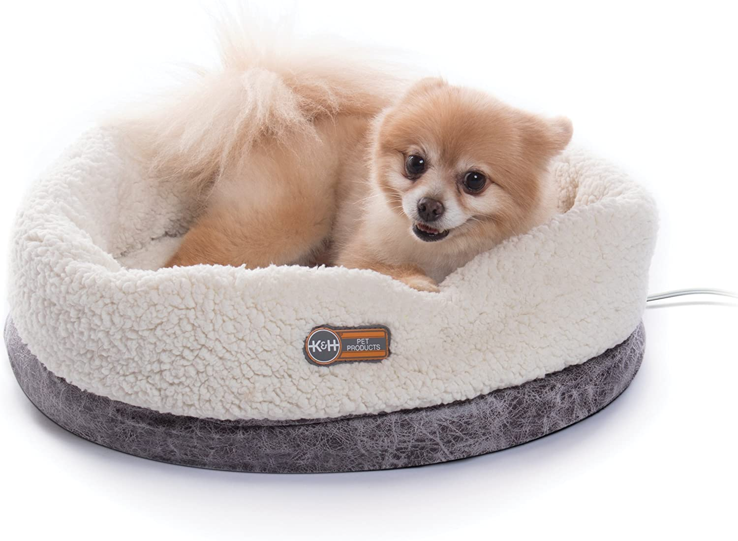 K&H Pet Products Thermo-Snuggle Cup Bomber - Indoor Heated Cat Bed