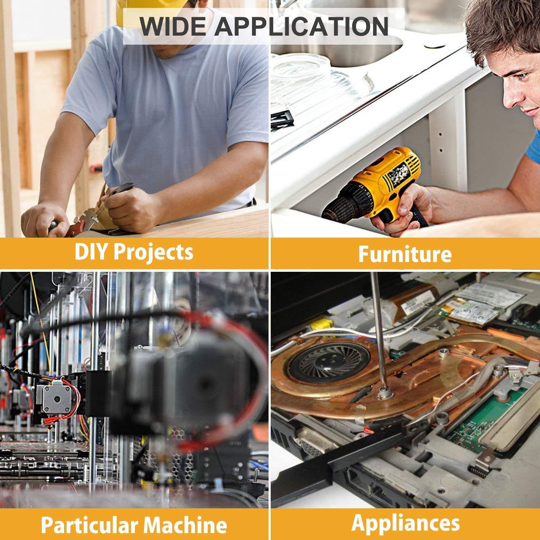 10 Sizes binifiMux 390pcs M3 Phillips Pan Head Screws Self Tapping Drilling Screws Assortment Kit 304 Stainless Steel