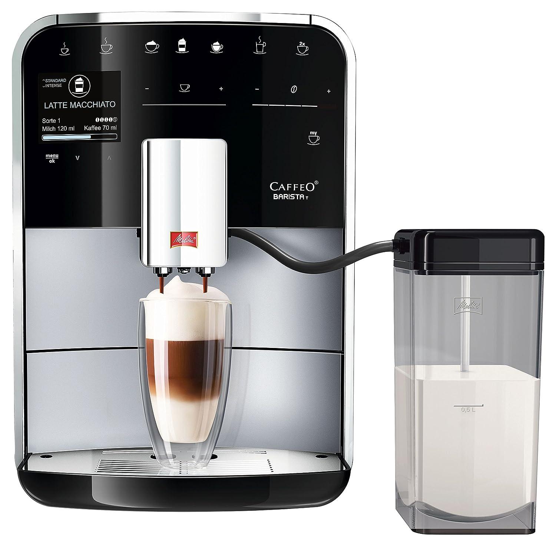 Melitta, - Cafetera automática, Caffeo Barista T F73/0 - 201, función One-Touch, pantalla LCD Caffeo Barista T + recipiente para leche plata: Amazon.es: ...