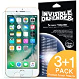 iPhone 7 / iPhone 8 Screen Protector, Invisible Defender [MAX CLARITY][Case Compatible] Lifetime Warranty Perfect Touch Precision High Definition (HD) Protective Film (4-Pack) for Apple iPhone 7