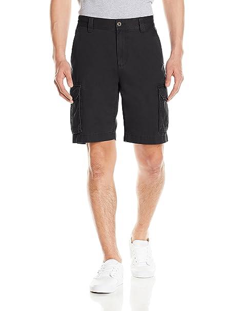 Amazon Essentials Men's Classic-Fit Cargo Short, Black, ...