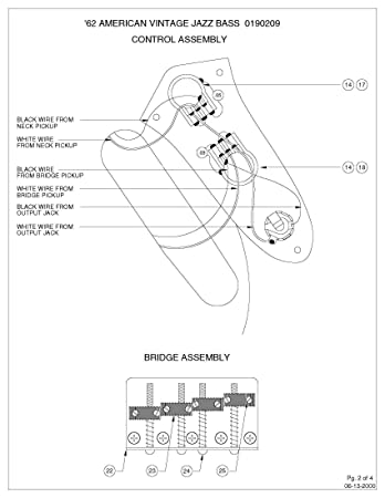Fender Squier Bass Wiring Diagram